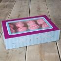 Caja Elegance para 12 cupcakes