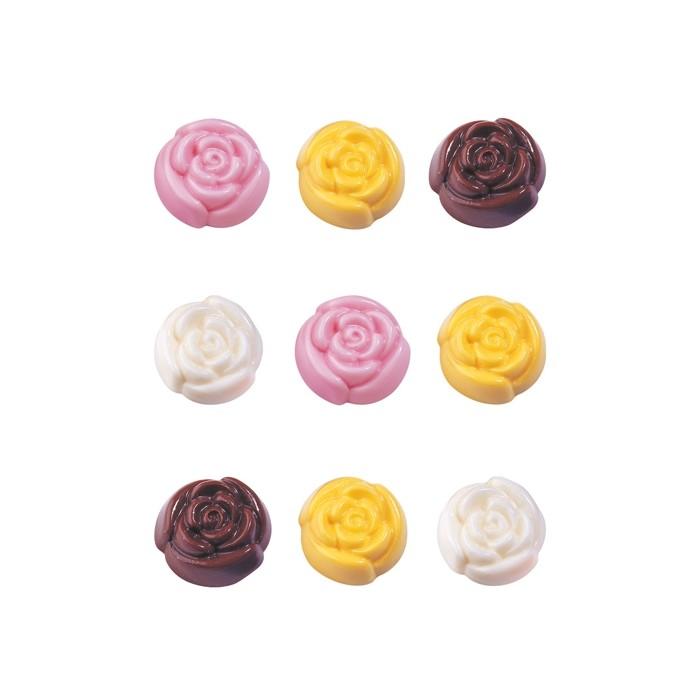 Molde para piruletas de rosas de chocolate Wilton