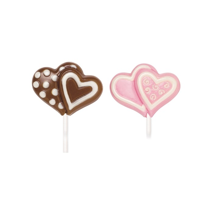 Molde para piruleta corazones de chocolate Wilton