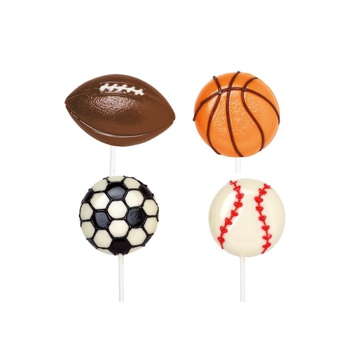 Molde para piruletas de balones de chocolate Wilton