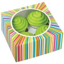 Set cajas 4 cupcakes Arco Iris
