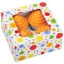 Set cajas para 4 cupcakes círculos