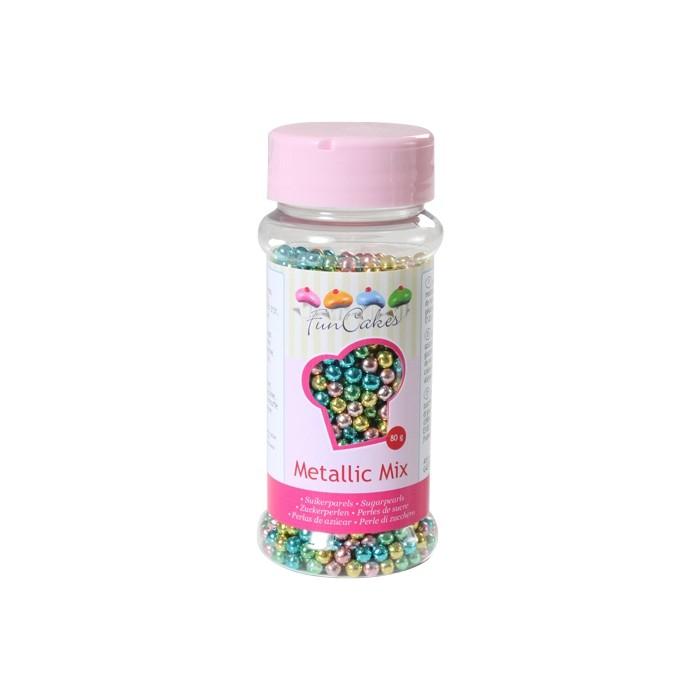 Perlas metalizadas Harlequín - Funcakes