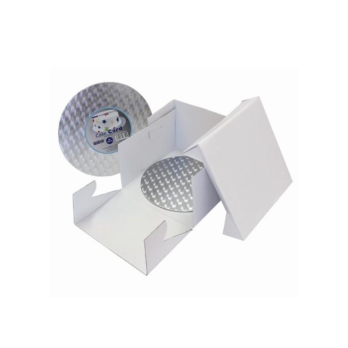Caja con base redonda para tartas de 25 x 25 x 15 cms. - PME