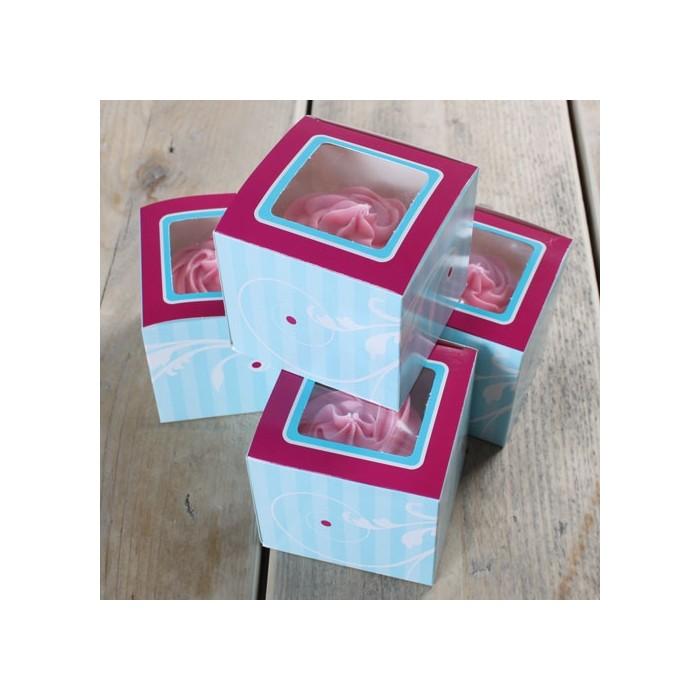Set de cajas cupcake individual Elegance