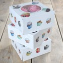 Set de 3 cajas para 4 cupcakes