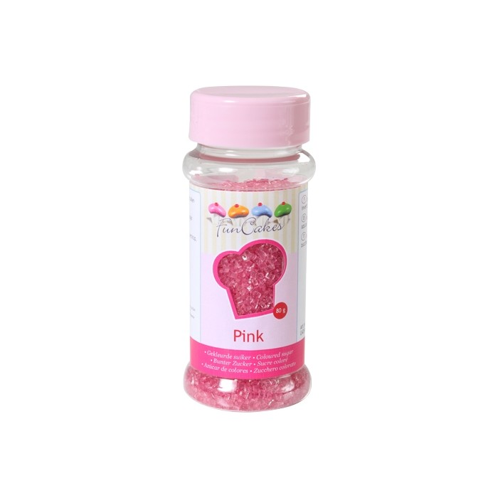 Azúcar cristalizado rosa - Funcakes