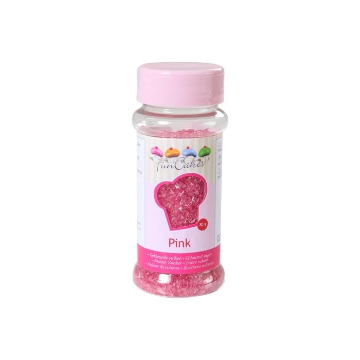 Azúcar cristalizado rosa