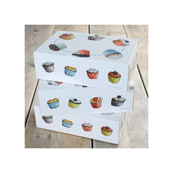 Set cajas para 6 cupcakes