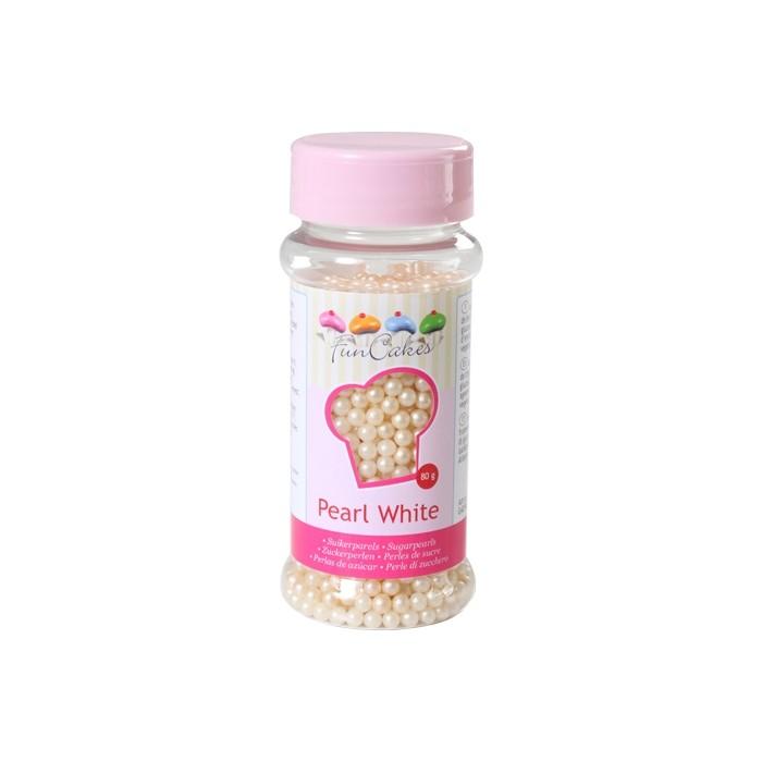 Perlas blanco perlado - Funcakes