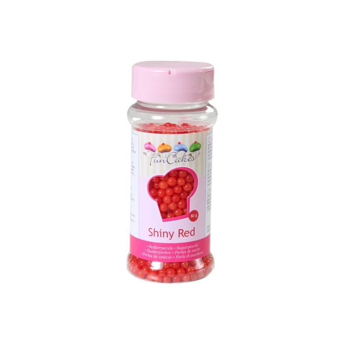 Perlas de azúcar rojas - Funcakes