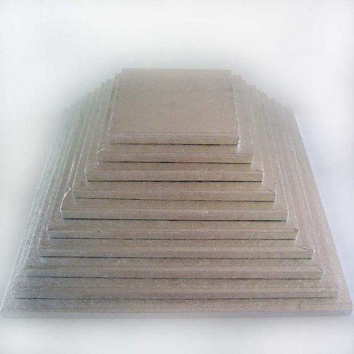 Base para tarta cuadrada 22 cm fina