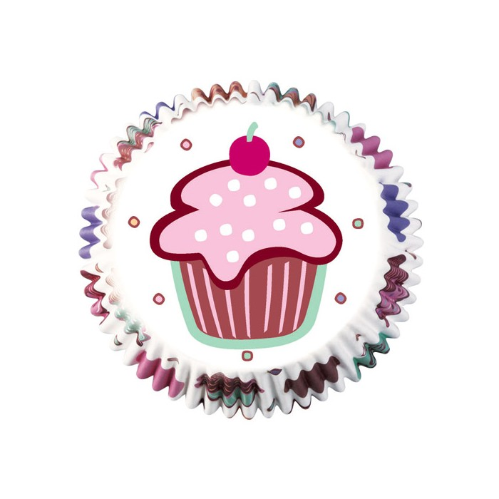 Cápsulas dibujos Cupcakes (75) - Wilton