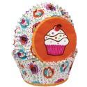 Cápsulas con dibujos fiesta de cupcakes (75) - Wilton