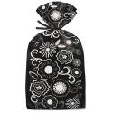 Bolsas de Fiesta flores blancas y negras - Wilton
