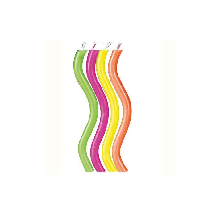 Velas de colorines con chispas