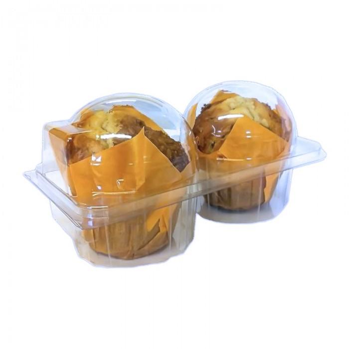 Caja plástico 2 cupcakes (6u.)
