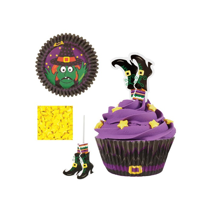 Kit decoración cupcakes bruja