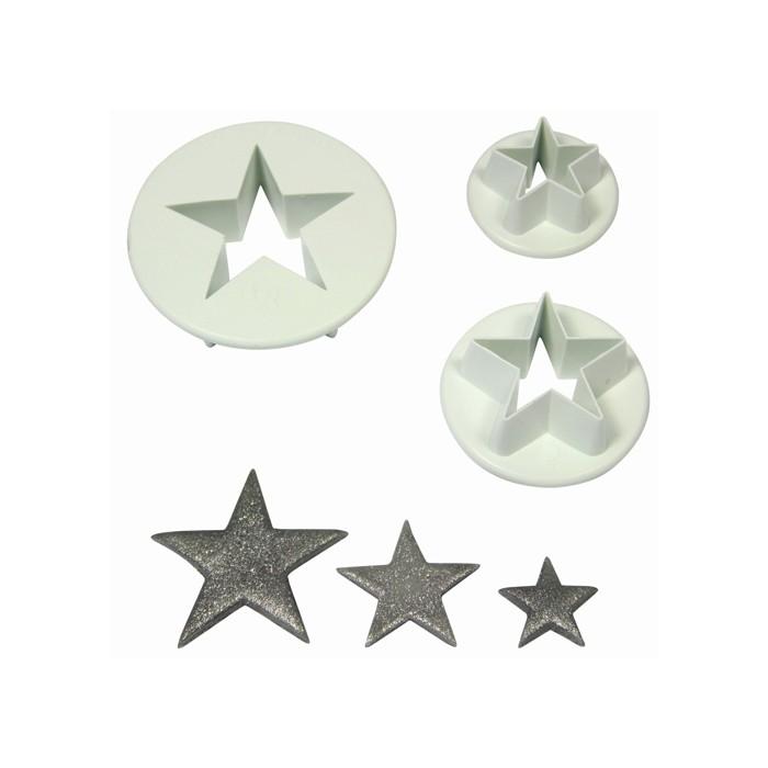Set 3 cortadores estrella
