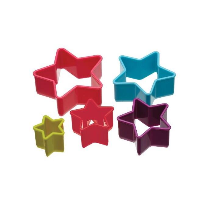 Set 5 cortadores de estrella
