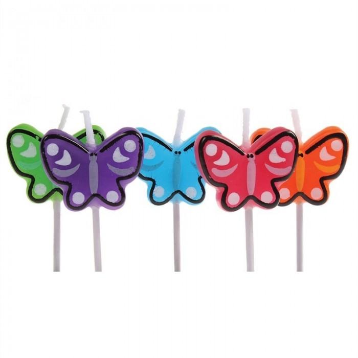 Set 5 velas Mariposas