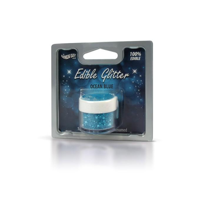 Purpurina comestible azul mar - Rainbow Dust