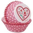 Cápsulas rosas con corazones