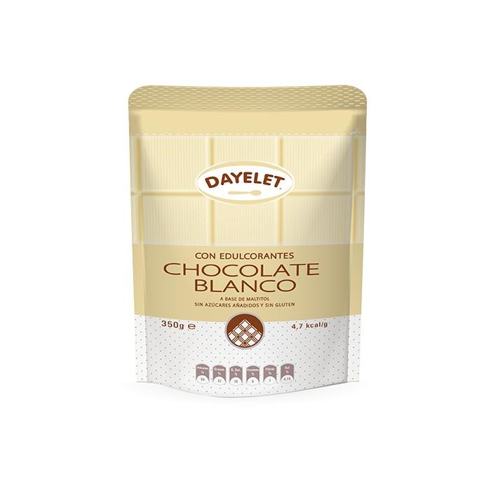 Chocolate blanco sin azúcar 350g. - Dayelet