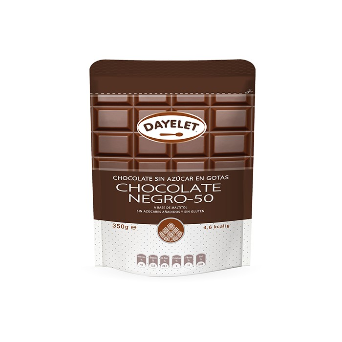 Chocolate negro sin azúcar 50% - Dayelet