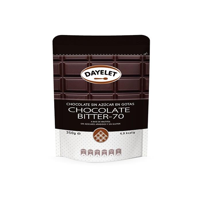 Chocolate Bitter 70 sin azúcar - Dayelet