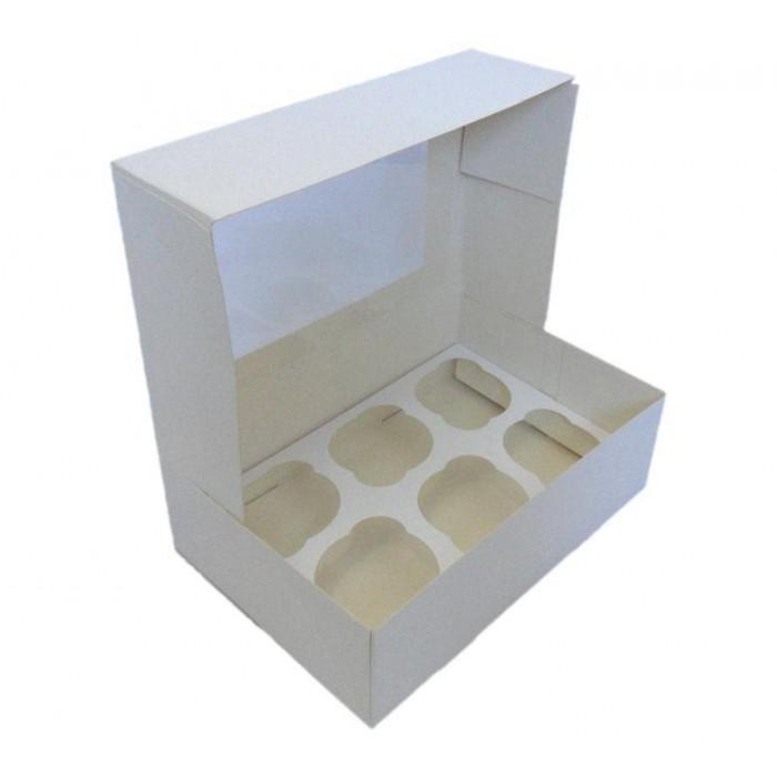 Caja para 6 cupcakes con ventana