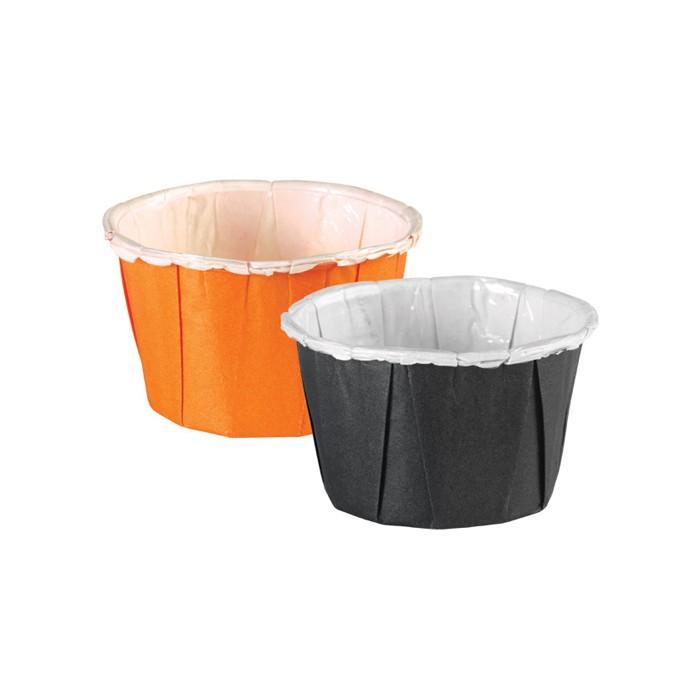 Minicápsulas naranjas y negras (24 u.) -Wilton