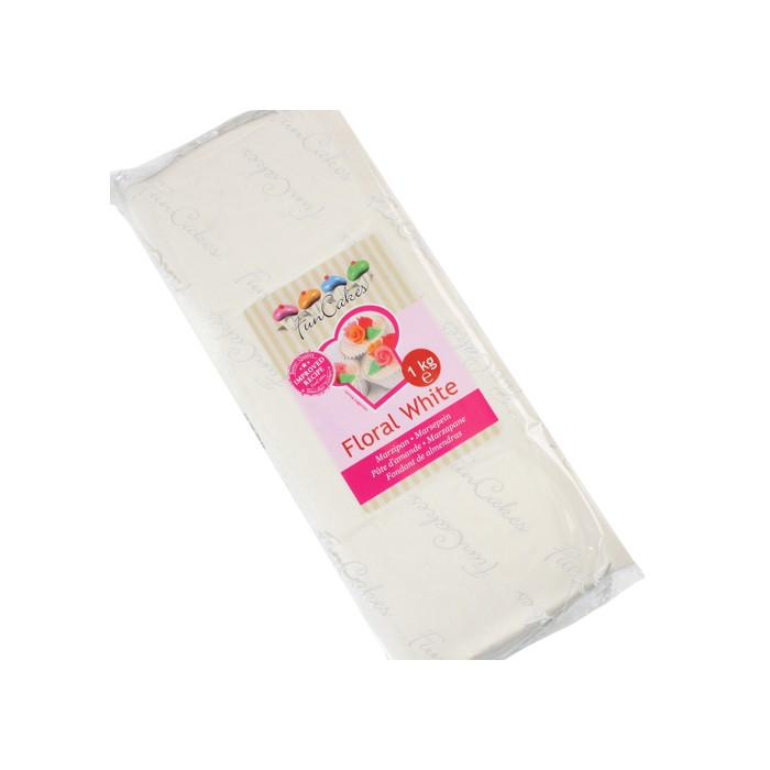 Mazapán Blanco floral 1 Kg. - Funcakes