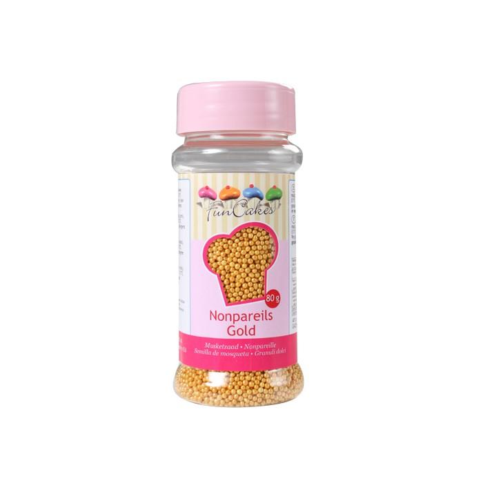 Nonpareils dorados - Funcakes
