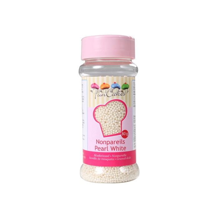 Nonpareils blanco perlado - Funcakes