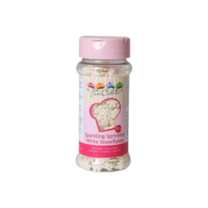 Sprinkles copos de nieve con purpurina - Funcakes