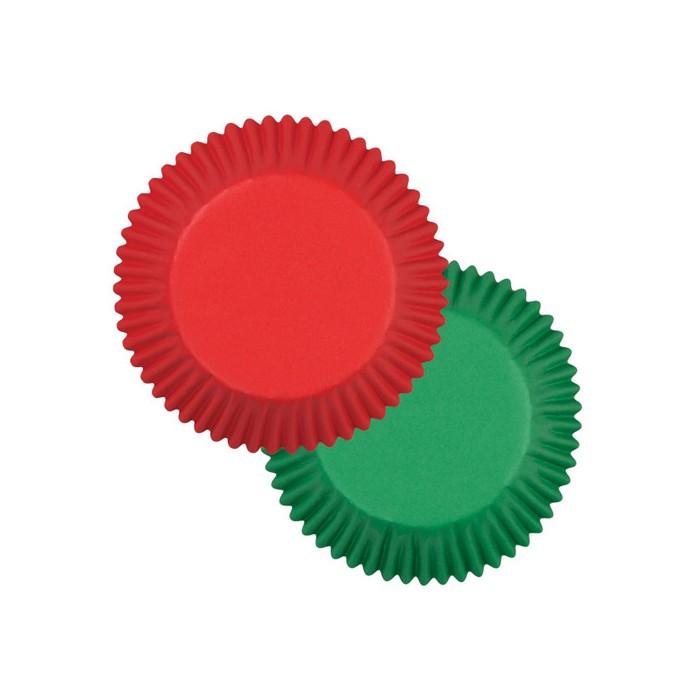 Cápsulas rojo y verde (75) - Wilton