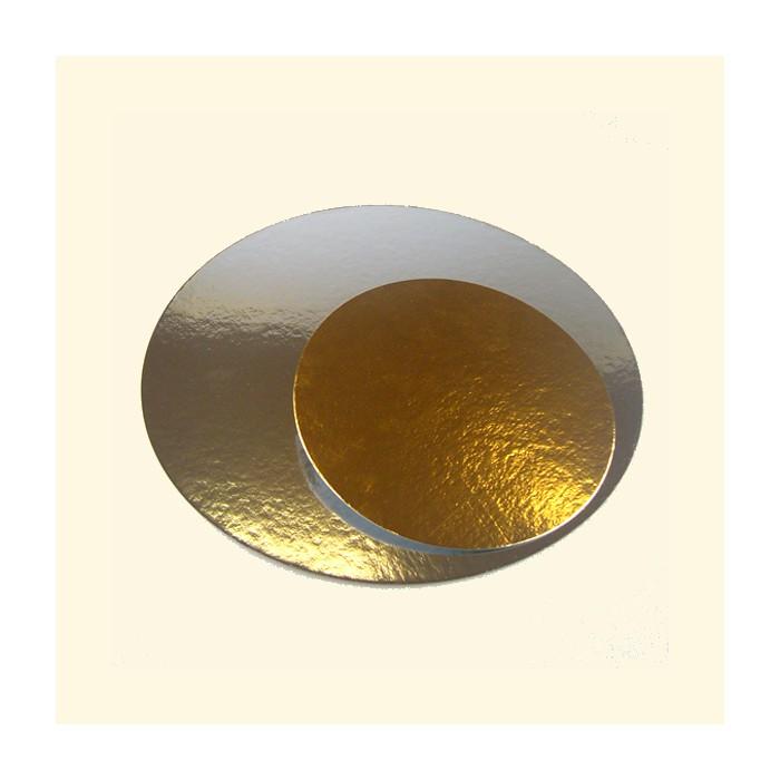 Disco dorado/ plateado 15 cm