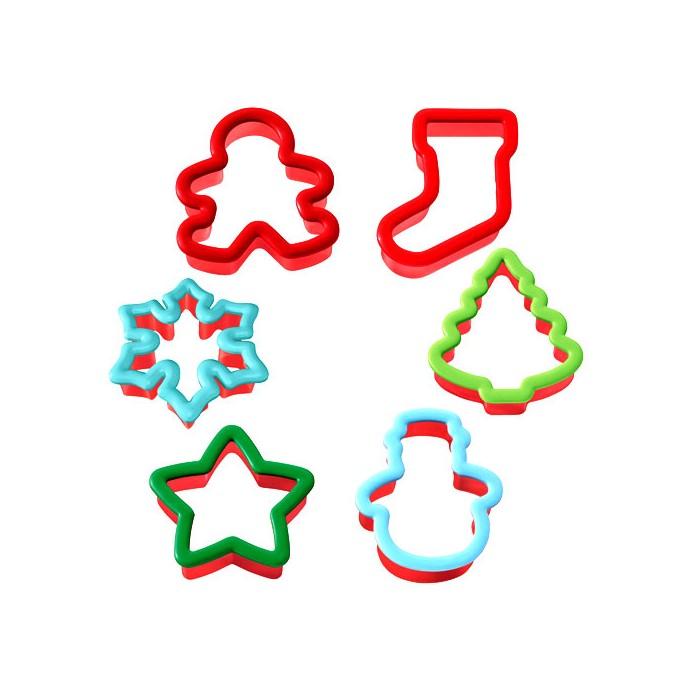 Set de 6 cortadores Navidad - Wilton