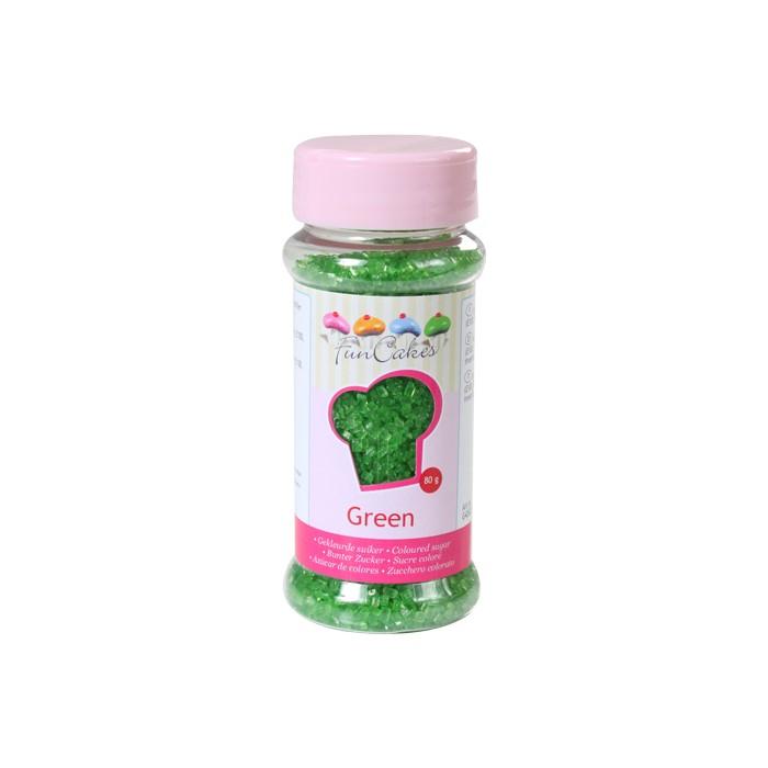 Azúcar cristalizado verde