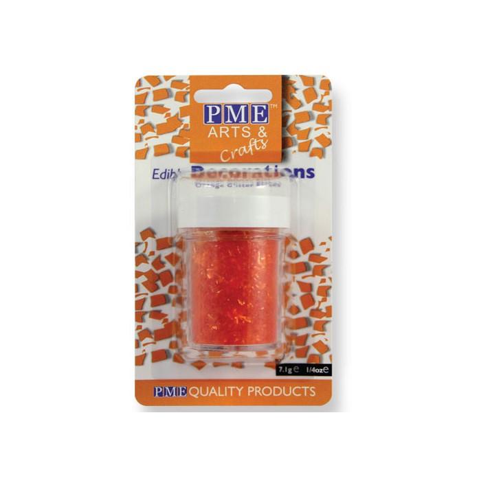 Virutas de purpurina naranja - PME