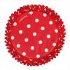 Cápsulas rojas con lunares blancos (75) - Wilton