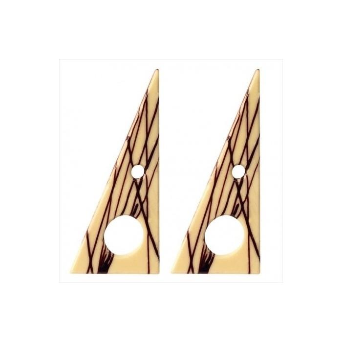 Triángulos de chocolate blanco Dekora