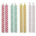 Velas a rayas PME colores pastel