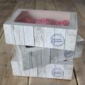 Set 3 cajas cupcakes diseño madera - Funcakes