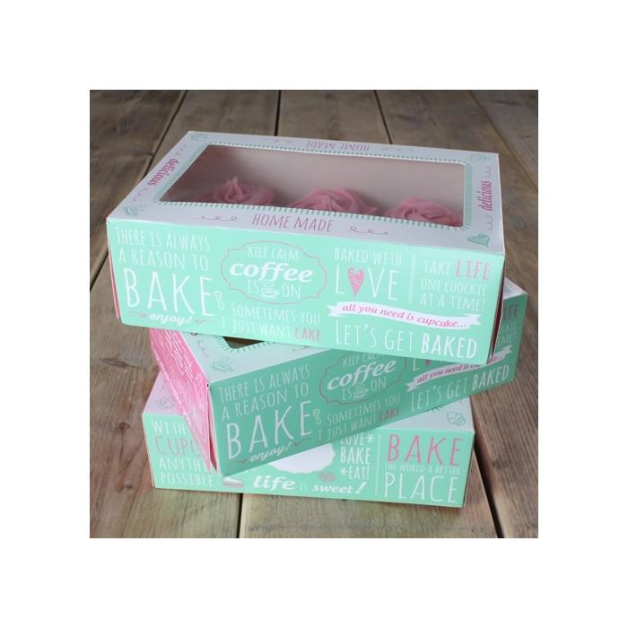 Set 3 cajas cupcakes diseño Quotes