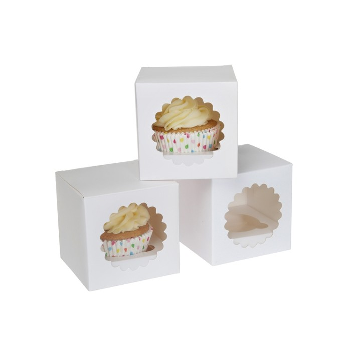 Caja blanca para cupcake individual