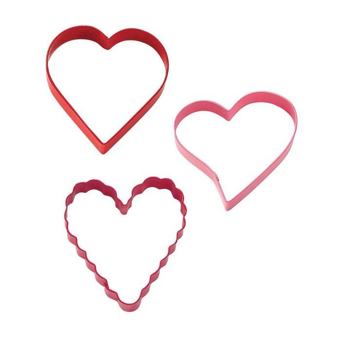 Set de cortadores corazón