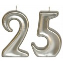 Velas doradas/plateadas 50/25 aniversario, pareja