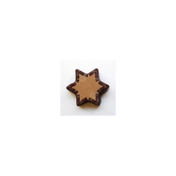 Molde cartón Estrella Navidad pequeño
